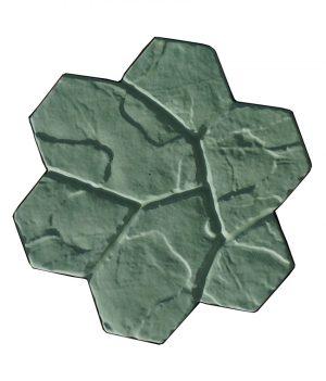 Akmeninė gėlė žalia