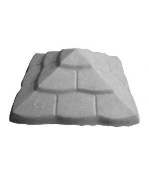 Tvoros kepurė Čerpė 450x450x170 pilka