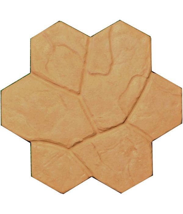 Akmeninė gėlė geltona-ruda