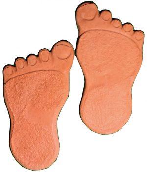 Pėda kairė desine raudona