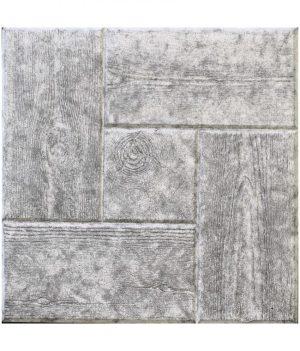 Medinė trinkelė 30x30 pilka
