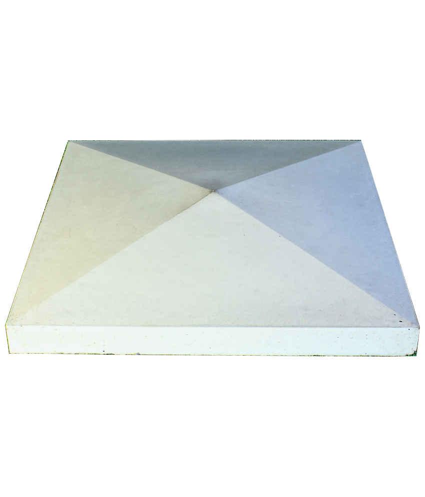 Tvoros kepurė 390x390x65 lygi, pilka