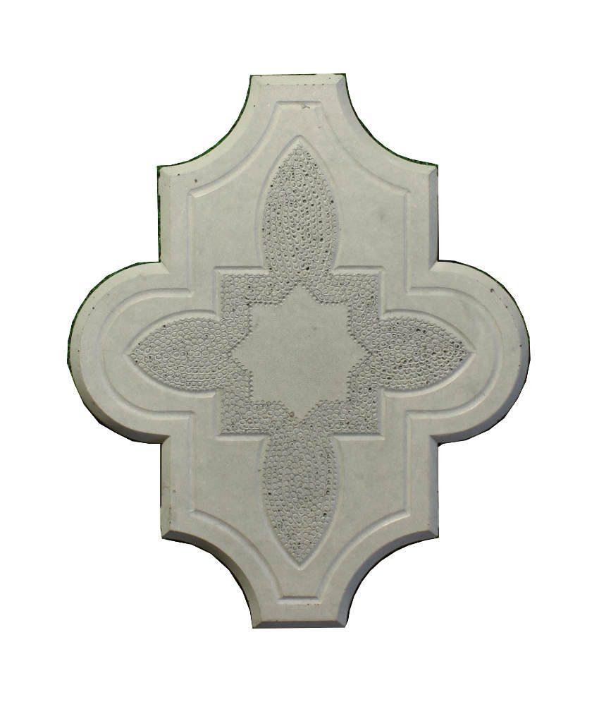 Grindinio plytelės Dobiliukas su ornamentu pilkas 25mm