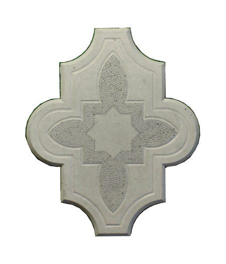 Grindinio trinkeles Dobiliukas su ornamentu pilkas 45mm