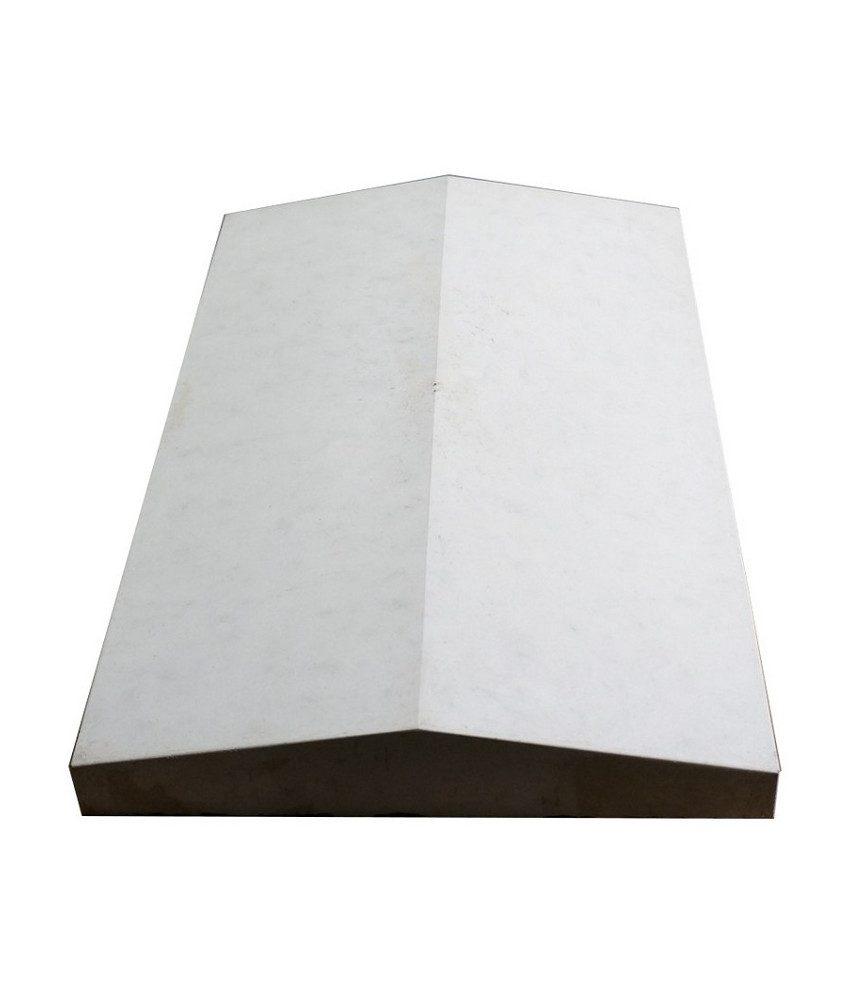 Tvoros stogelis sienai 390x350x55 pilkas lygus