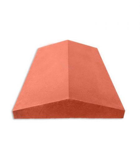 Tvoros stogelis sienai 490x305x55 lygus raudonas