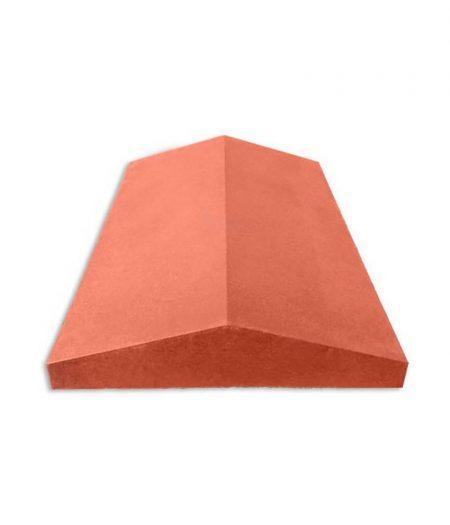 Tvoros stogelis sienai 390x270x55 lygus raudonas
